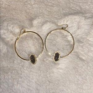 Kendra Scott Elora Earrings - Gray Druzy